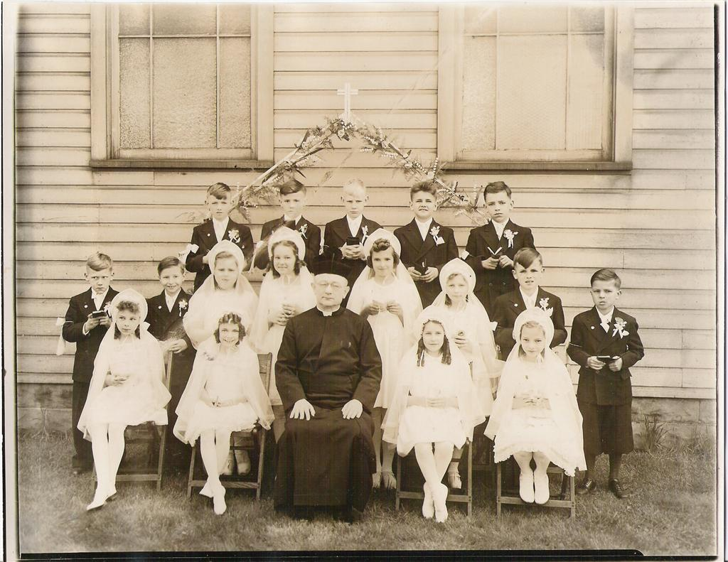 St. Barbara's 1945 Communion Class Made their First Holy Communion on: May 12, 1946 (Submitted by Barbara Petruzzi Halusker)