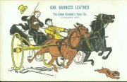 Advertisement PostcardOak - Harness - LeatherThe Adam Kroehle's Sons Co.